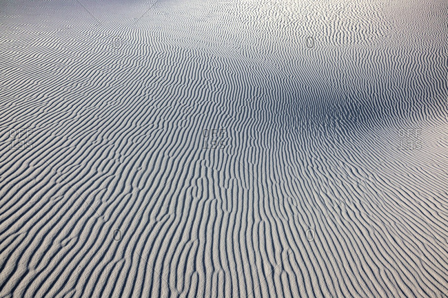 Wind ripples on a sand dune in White Sands National Monument