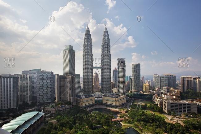Kuala Lumpur, Malaysia - February 9, 2012: A view of Kuala Lumpur, Malaysia