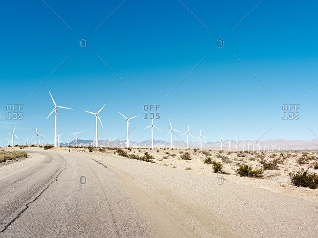 Wind farm in the desert