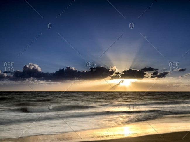 Radiant sunset over an Australian beach
