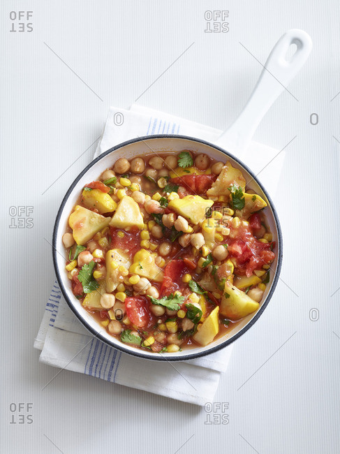 Vegetable stew in a pot
