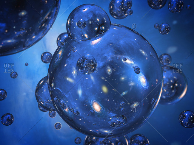 Conceptual image of bubble universes