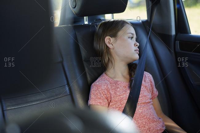Girl wearing seat belt