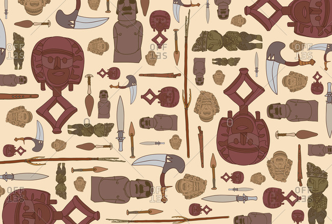 Repeated symbols of African artifacts