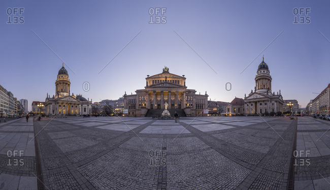 Berlin, Germany - March 16, 2016: Gendarmenmarkt in the evening