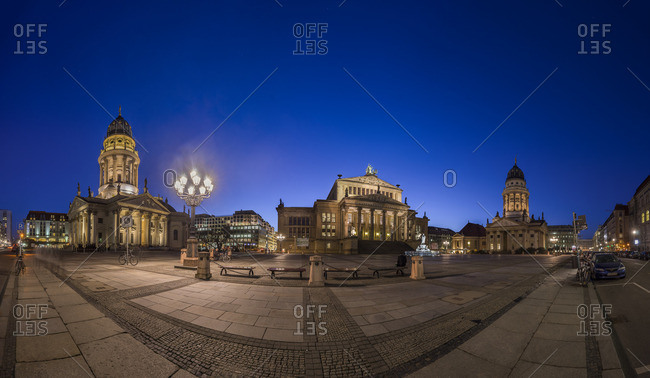 Berlin, Germany - March 16, 2016: Gendarmenmarkt by night