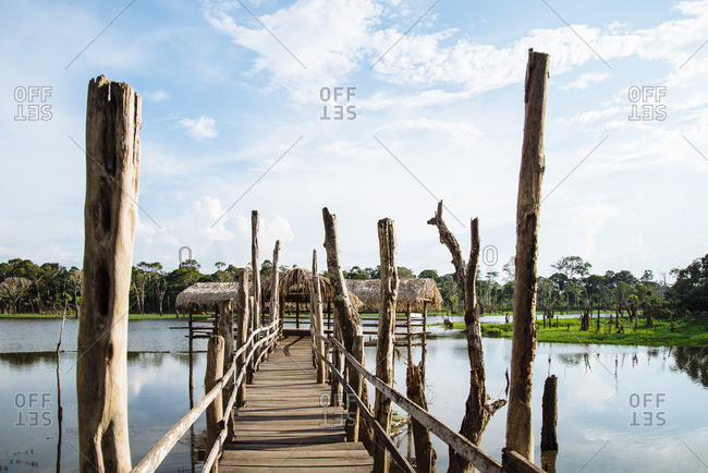 Pier over Amazon river, Brazil