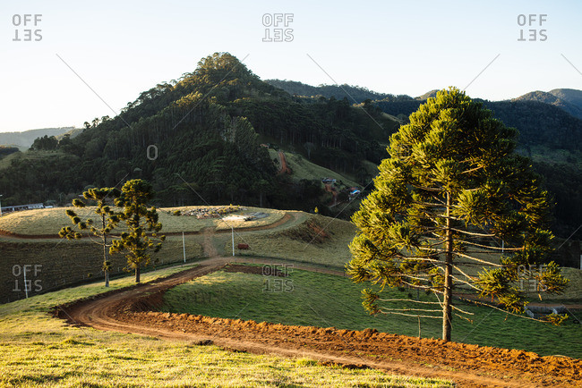 Hilly landscape in rural Brazil