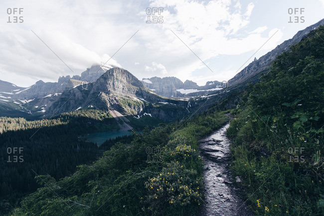 Mountain trail with scenic view