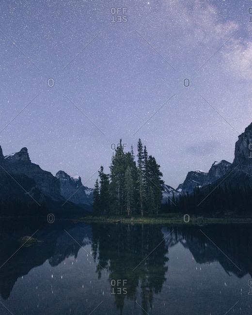 A remote mountain setting