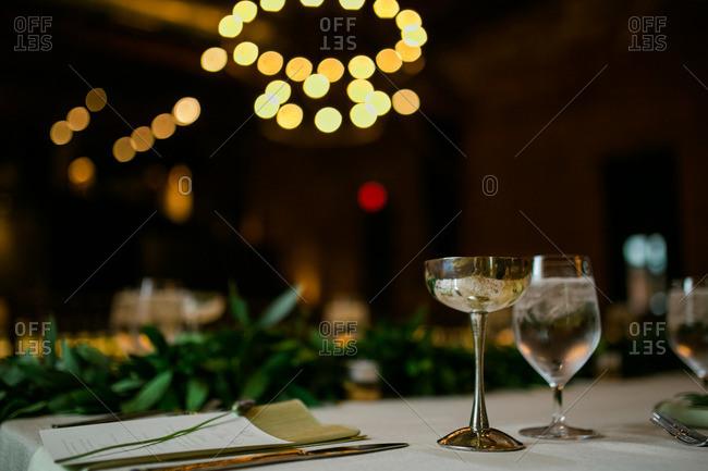 Reception table inside a hall