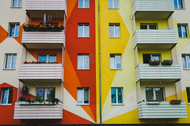 Leipzig, Germany, 7/12/16: Apartment with triangle design