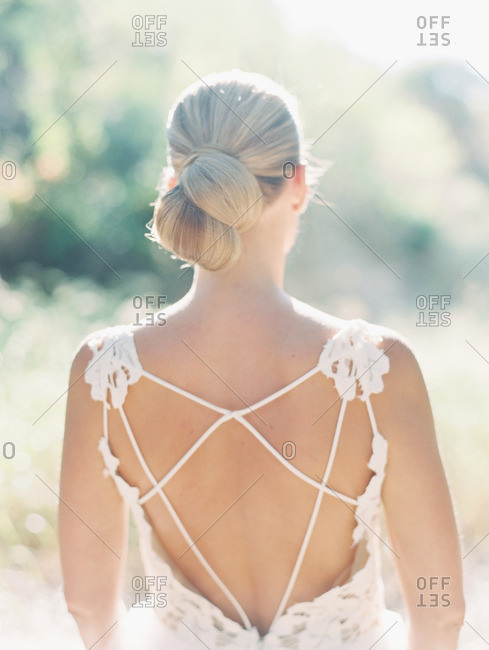 Bride with strapped back dress