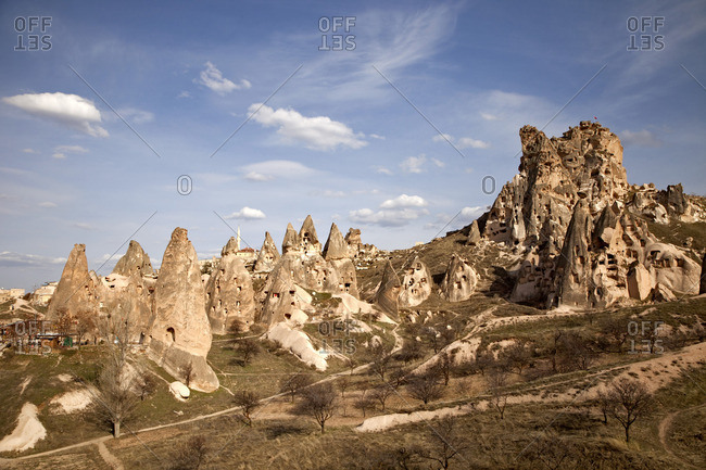 Houses carved in rock, Cappadocia, Turkey