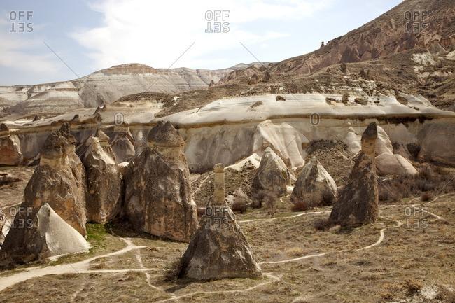 Rock formations in Capadoccia, Turkey