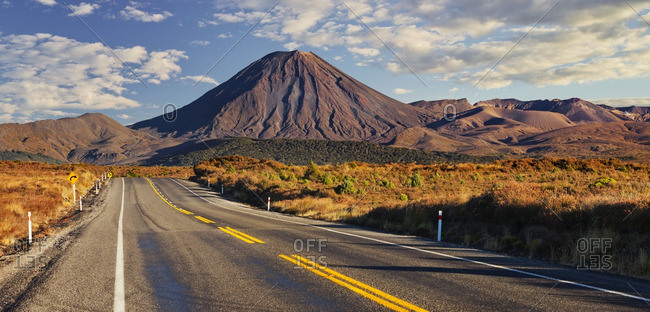 Highway running through rural New Zealand