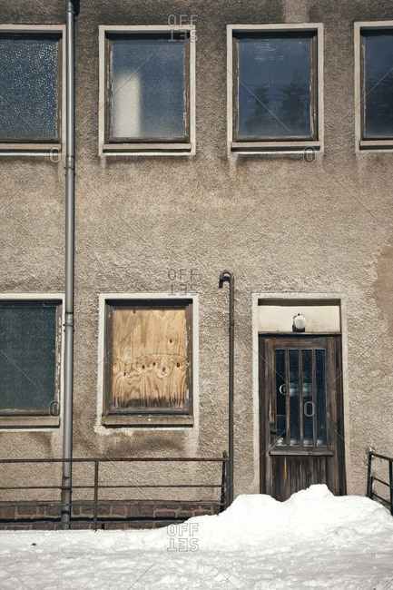 Worn building fa�ade in Germany