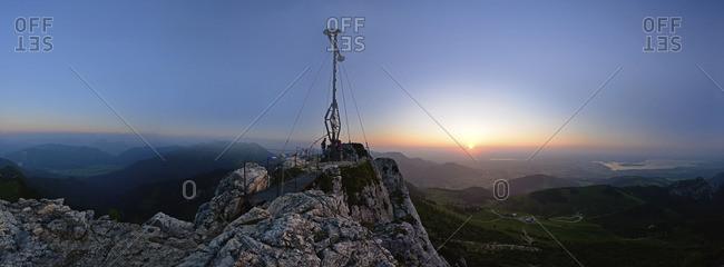 Cross at top of German mountain