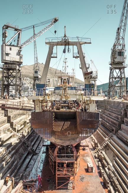 June 29, 2015: Shipyard in South Africa