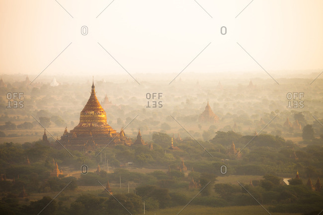 View of ancient temples, Myanmar