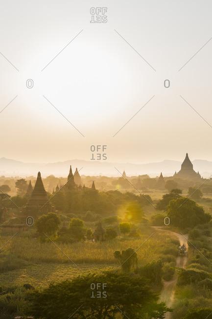 Sunrise over temples, Myanmar