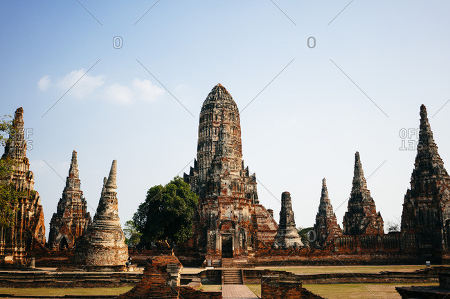 Historic ruins at Ayutthaya City, Thailand