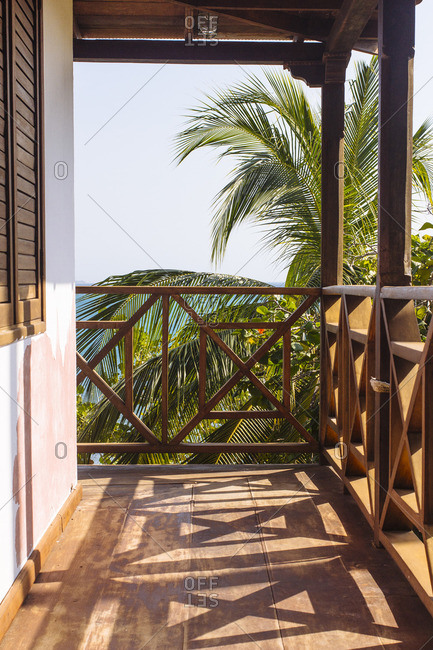 A balcony at a resort in Cartagena, Colombia