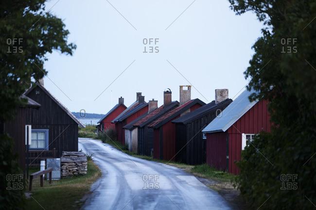 Sweden, Gotland, Gnisvard, Village road