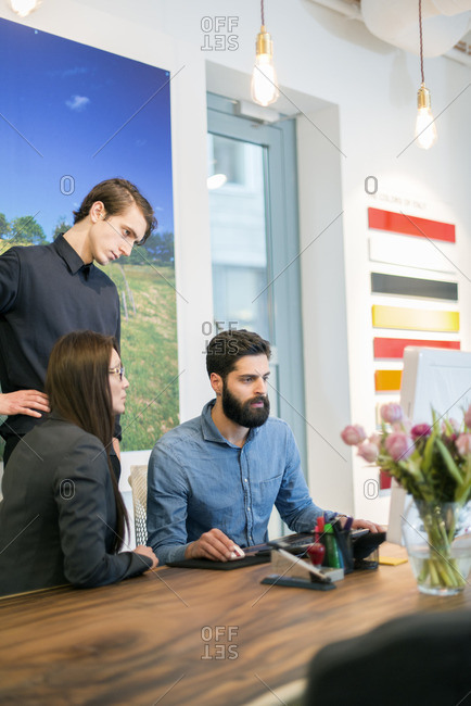 Sweden, People at work in office