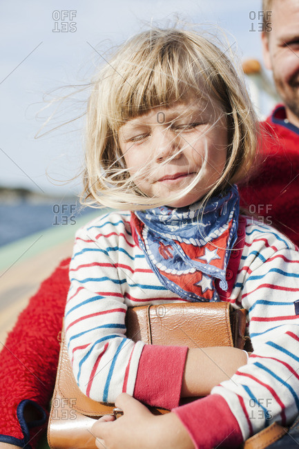 Norway, Little girl with father
