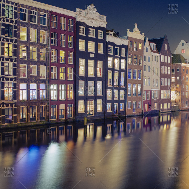 Netherlands, Amsterdam, Residential structures on canals