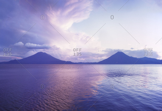 Guatemala, View of Lake Atitlan