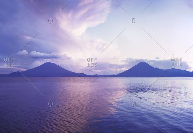 Guatemala, View of Lake Atitlan