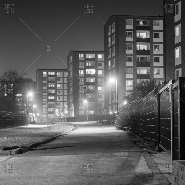 Sweden, Skane, Malmo, Picture of residential district