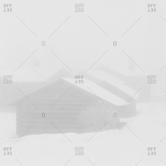 Sweden, Dalarna, Orsa, Wooden house in winter