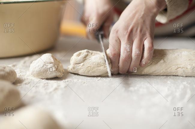 Sweden, Skane, Vanga, Woman preparing food