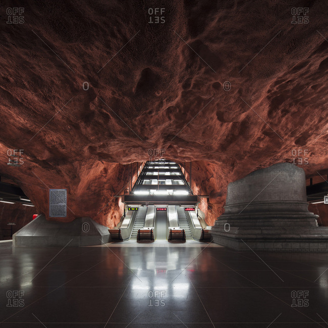 Sweden, Stockholm, View of Radhuset metro station