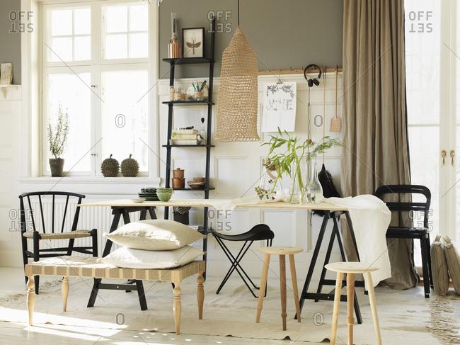 Sweden, Vastergotland, View of home interior