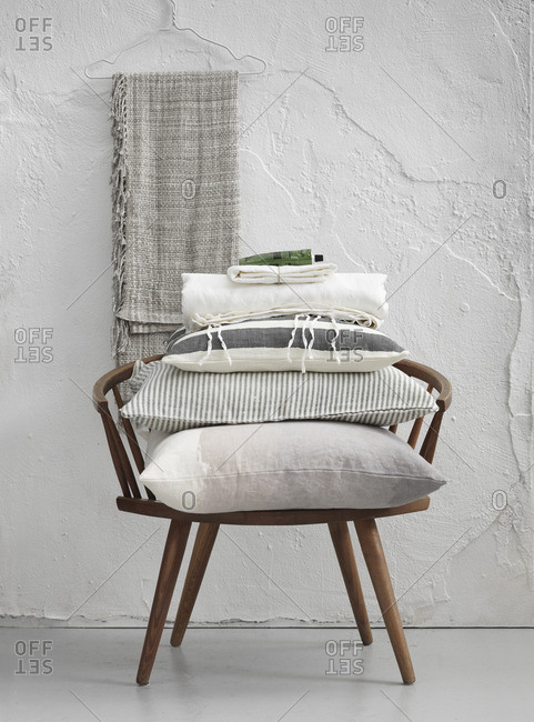Sweden, Vastergotland, Cushions on chair