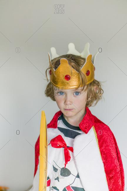 Sweden, Portrait of boy in king's costume