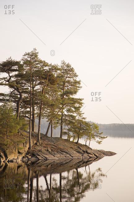 Sweden, Vastergotland, Harskogen, Stora Harsjon, Scenic view of lake