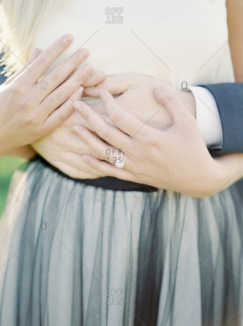 Sweden, Close- up of hands of newlyweds