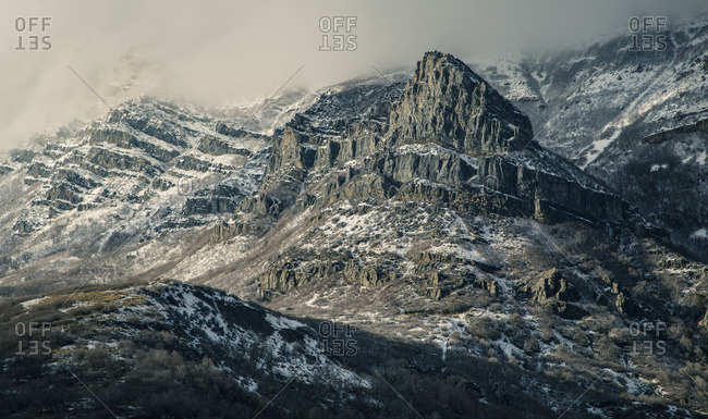 Rugged mountain landscape