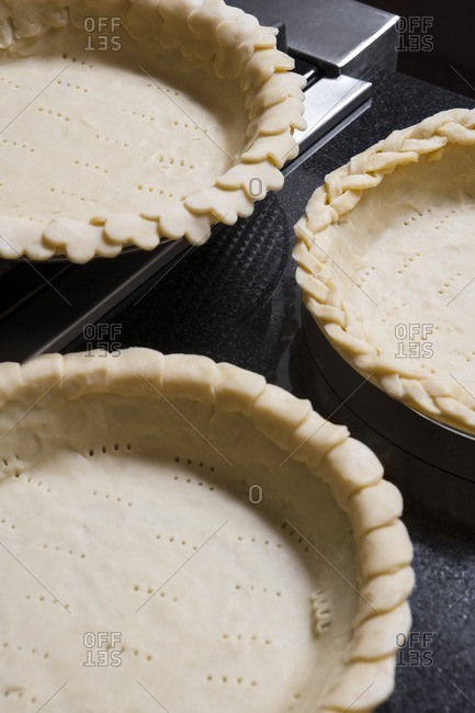 Pie Crust in Three Pans