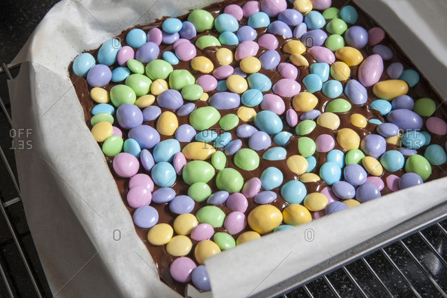 Pastel Candies in Chocolate