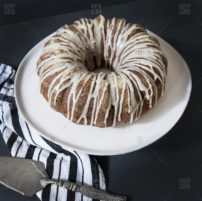 Sour Cream Coffee Cake with Maple Syrup Glaze