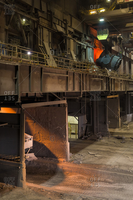Interior of a steel plant