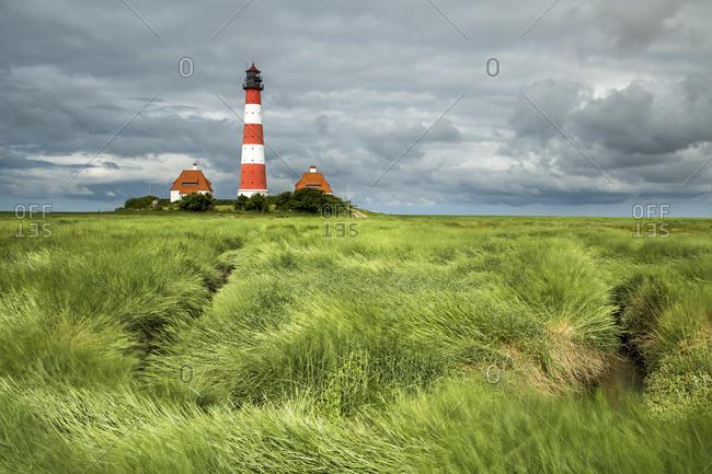 Germany- North Frisia- Eiderstedt- Westerhever- Westerheversand Lighthouse