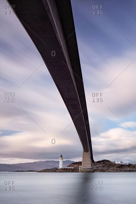 View from below the Skye Bridge toward Kyleakin Lighthouse, Scotland