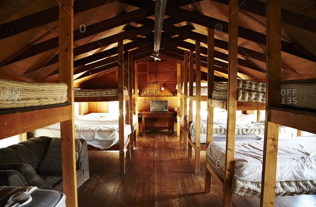 A cabin with bunk beds